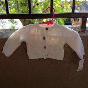 NWT Carters White Cardigan